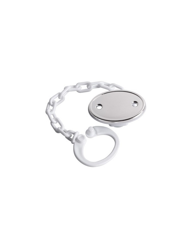 STERLING SILVER ROUND PLAIN PACIFIER PIN