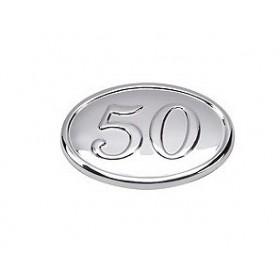 OVALO PLATA GRANDE 50 ANIVERSARIO